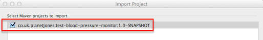Select Maven Projects to Import