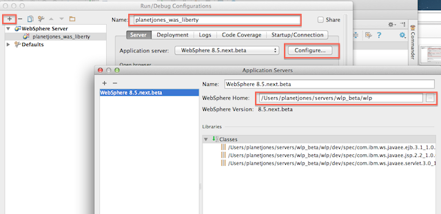 Taking the WebSphere Liberty Profile for a spin, using Intellij on